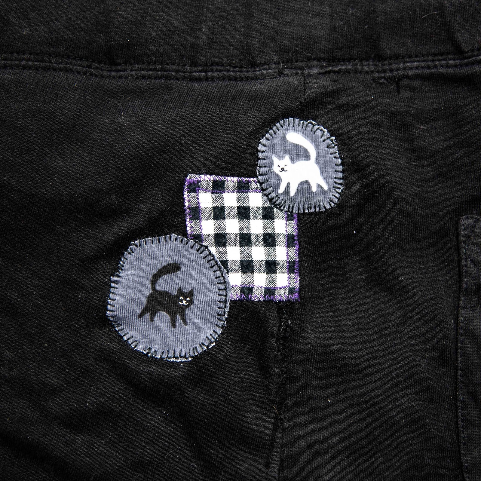 faulty fashion pants holes cover selfmade patches sewing diy repair