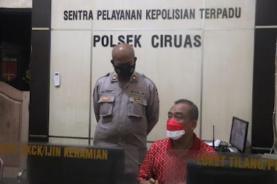 Begini Kondisi Polsek Ciruas Ketika Didatangi Dini Hari oleh Karoops Polda Banten