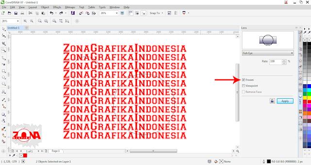 Cara Membuat Effects Fish Eye Pada Tulisan dengan Corel Draw X7