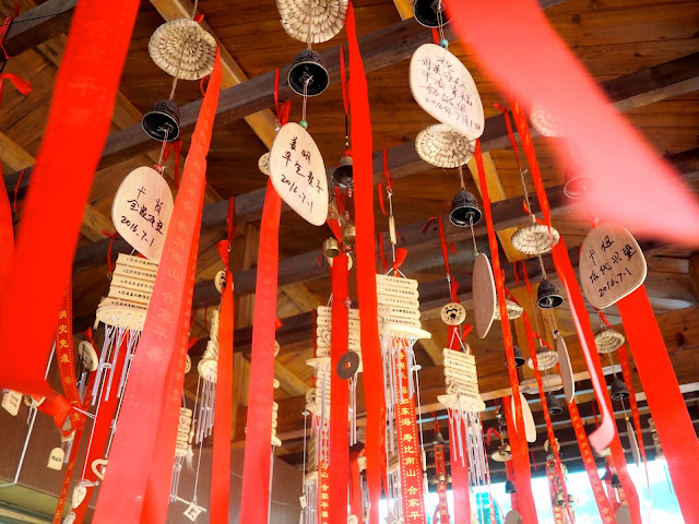 Chinese hanging decorations in Zhangjiajie National Park, China
