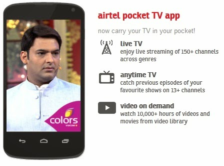 Airtel Digital TV Launched Airtel Pocket TV