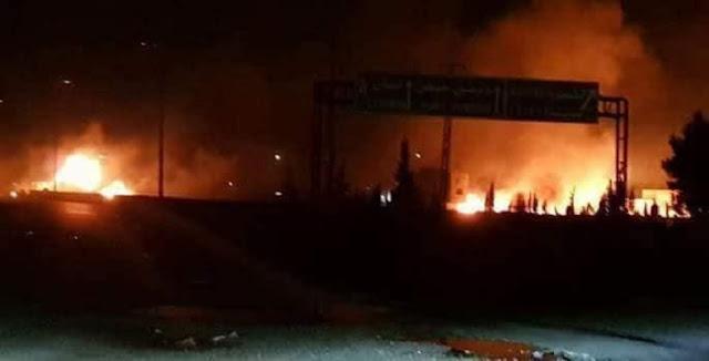 عدوان إسرائيلي وقواتنا الجوية تسقط صاروخين في منطقة الكسوة بريف دمشق(فيديو)