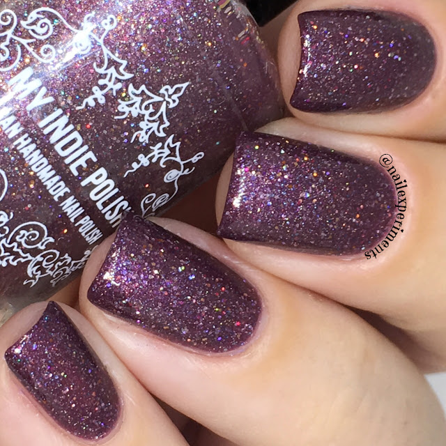 my indie polish grape things to come swatch review