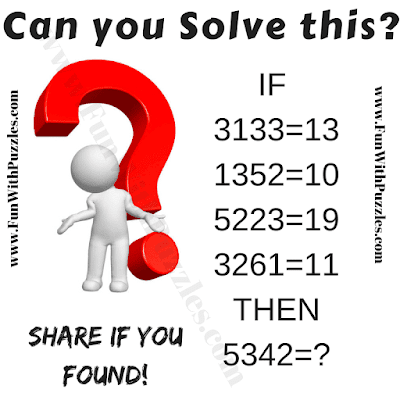 It is clever logical reasoning riddle in which your challenge is to solve the given if-then logical equations