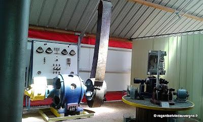 Musée : Electrodrome de Magnet, Allier. Moteur et courroie