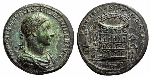 Medallón de Bronce - Alejandro Severo - Coliseo
