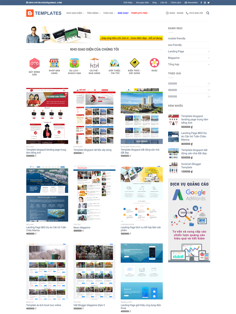 Flatsome Blogger Template bán theme chuẩn Seo