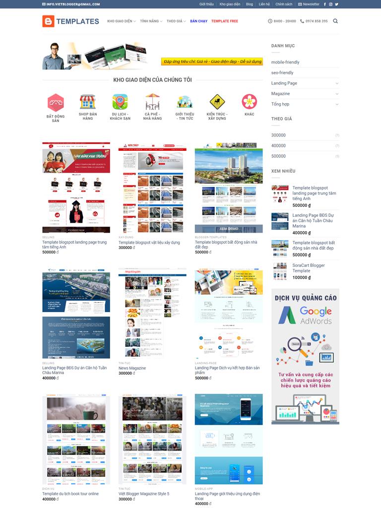 Flatsome Blogger Template bán theme chuẩn Seo - Ảnh 1