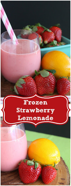 Frozen Strawberry Lemonade from LoveandConfections.com #SundaySupper #FLStrawberry