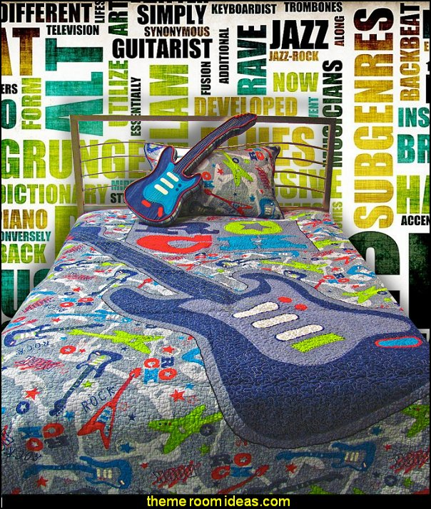 Guitar BEDDING-Guitar Pillow Set-music wall murals