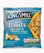 Kingsmill mini toasts sea salt and balsamic vinegar