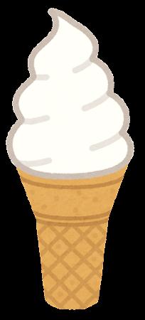 ソフトクリームのイラスト(コーン2)