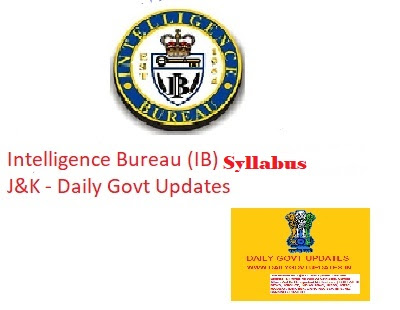 IB Sceurity Assistant/Executive Syllabus - Dailygovtupdates.in