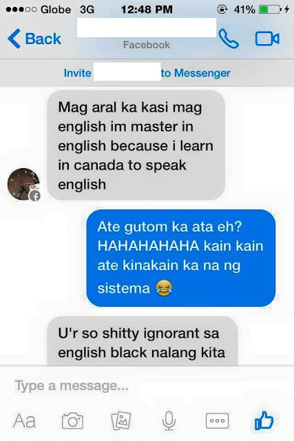"""Half Canada-Half Philippines"" woman does this after an FB friend refused to like her profile picture!"