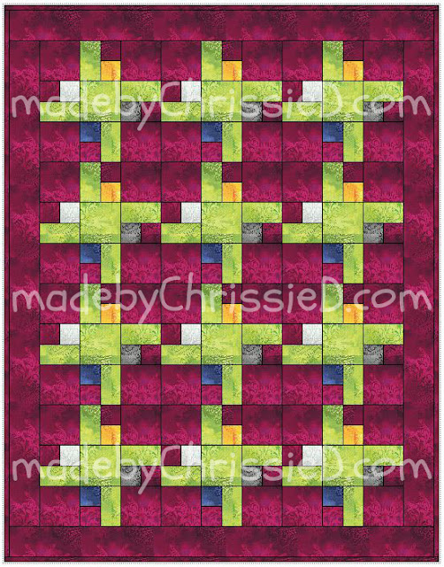 Trapped Square block and quilt design tutorial by www.madebyChrissieD.com