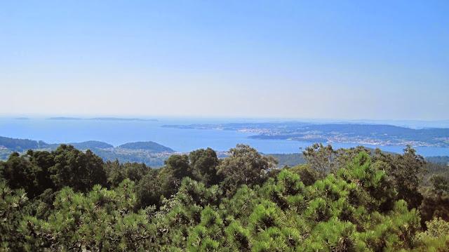 Ría de Pontevedra desde el mirador de Cotorredondo