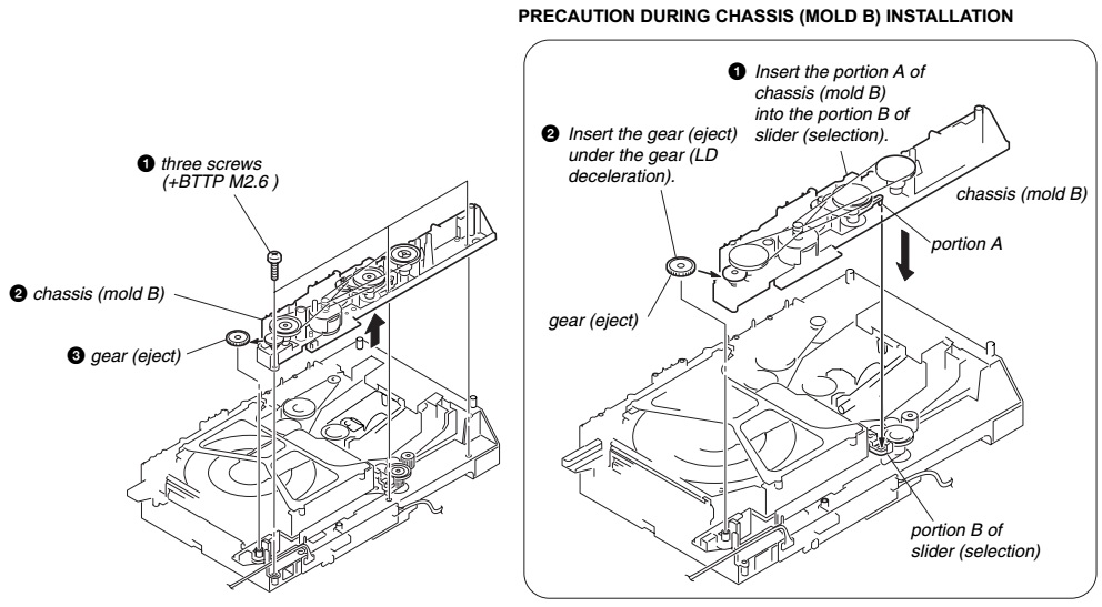 Electrotechnician: Disc changer Disassemble procedure