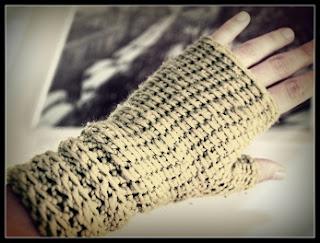 Mitones a Crochet, Punto Tunecino - Ahuyama Crochet
