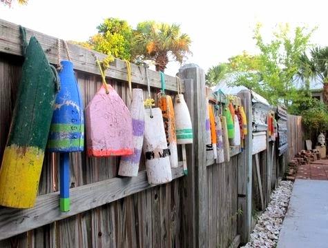 buoy garden fence