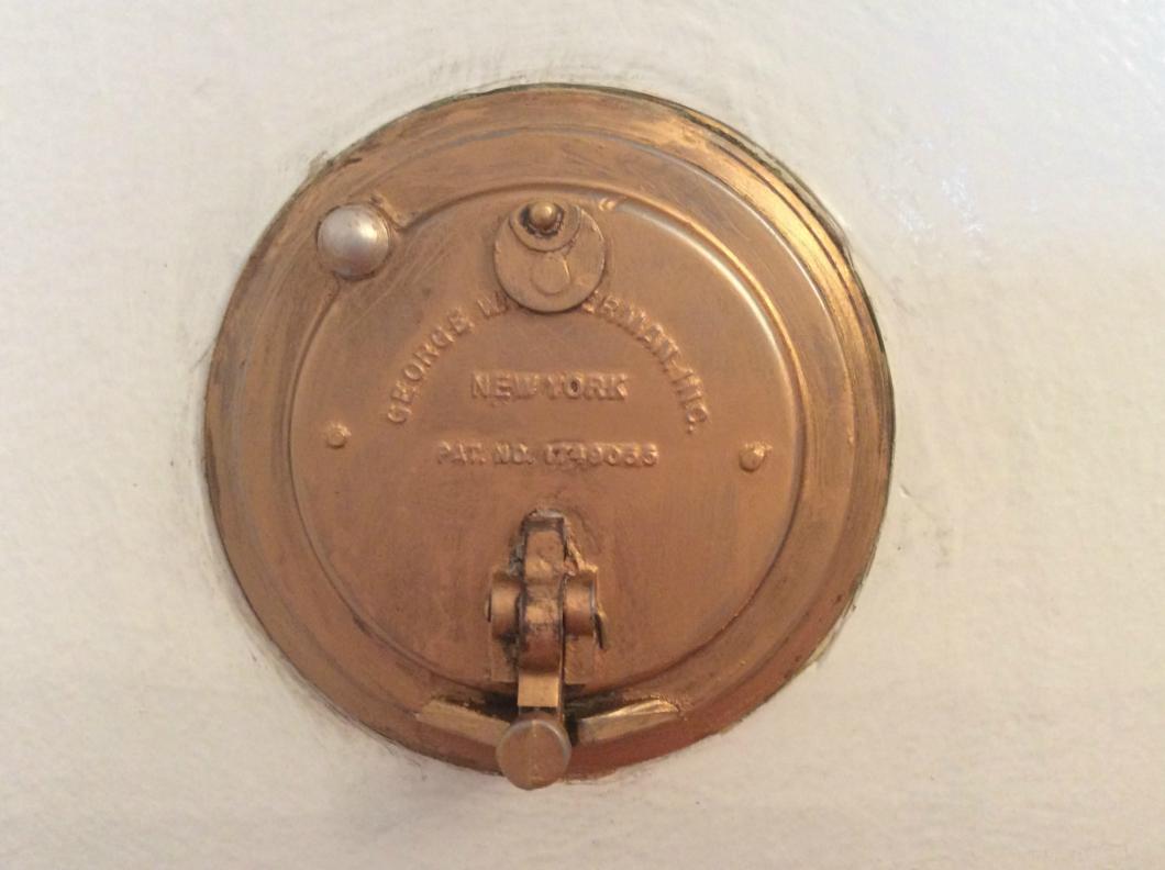Antique door peepholes dorgril speakeasy door knocker peephole art deco - Door knocker with peep hole ...