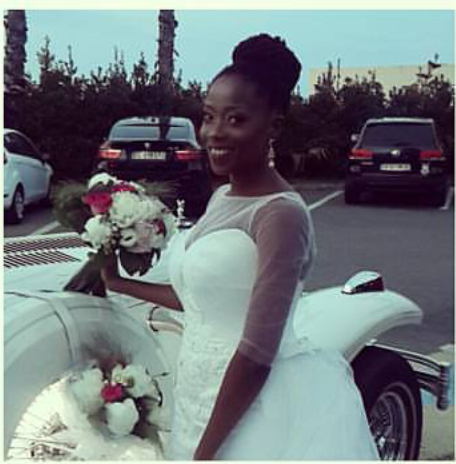 TOSIN BUCKNOR LOOKING RADIANT ON HER WDDING DAY