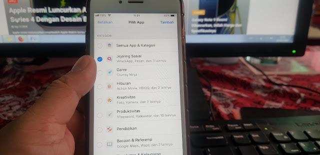 Cara menambahkan Aplikasi di mode App Limits iOS 12