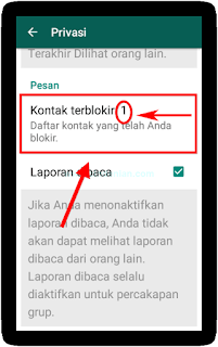 Menblokir Kontak pada WhatsApp