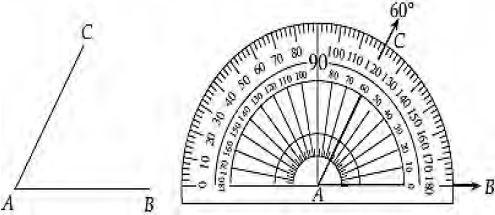 Mengukur Sudut Dengan Busur Derajat
