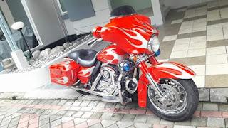 Dijual Moge Harley Davidson Merah Lombok Cakep - SEMARANG