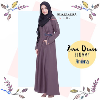 Gamis Amima Zara Dress Plummy