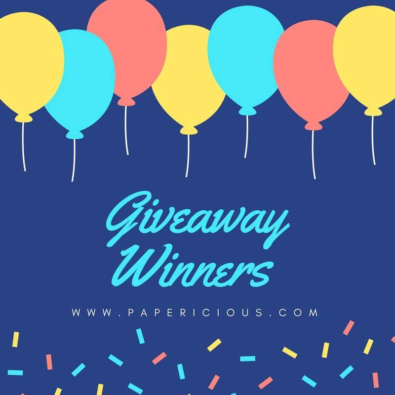 Giveaway Winner of Papericious within 23