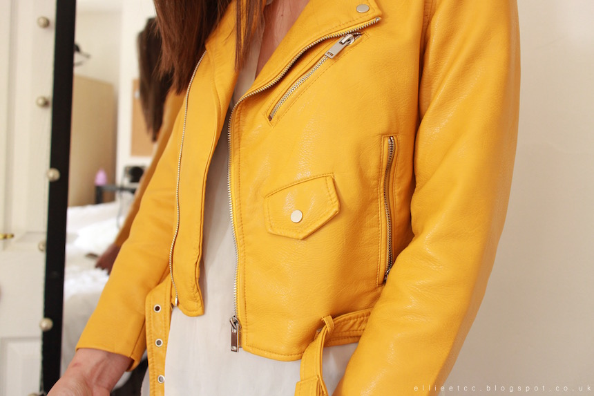 fashion, jacket, leather jacket, OOTD, outfit, staple, style, yellow, Zara, favourite,