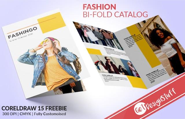 Fashion Bi-Fold CorelDraw 15 Catalogue