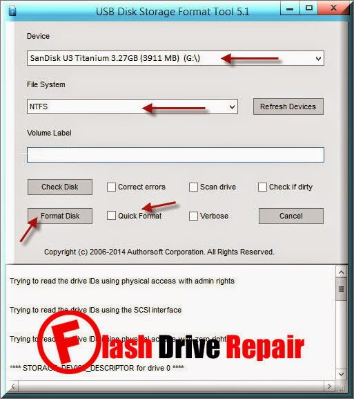 Download USB Disk Storage Format Tool V5.1
