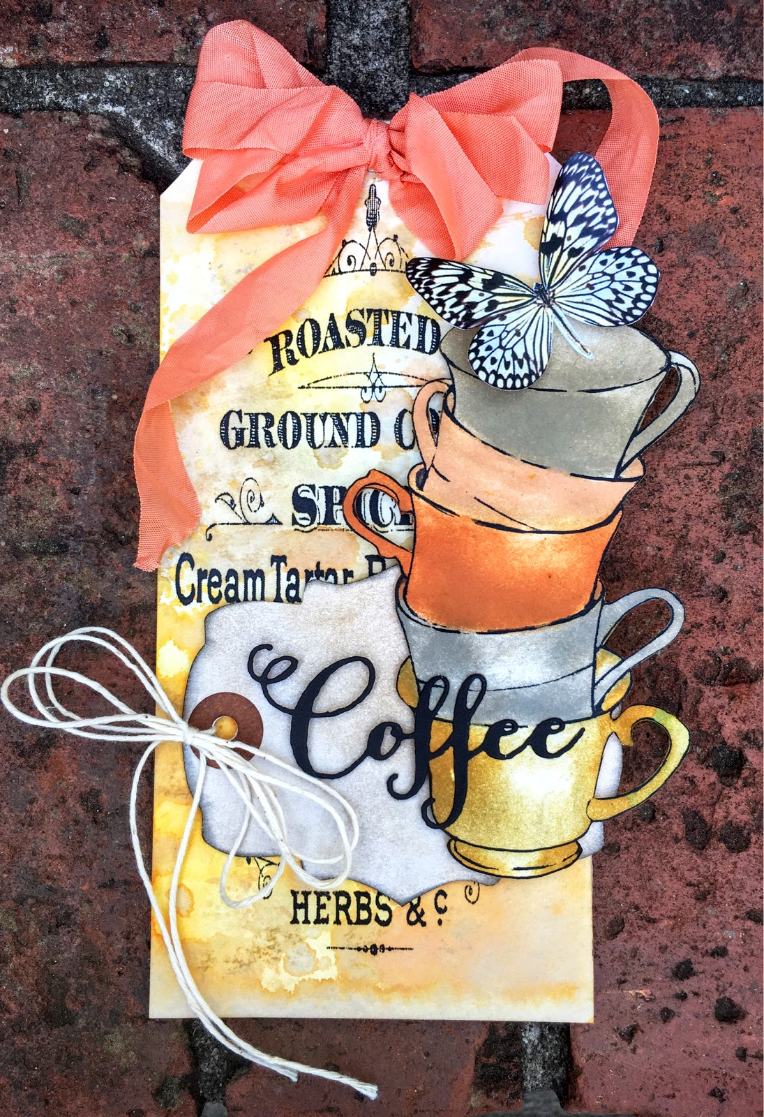 SewPaperPaint: Free Printable Stacked Coffee Mugs Card