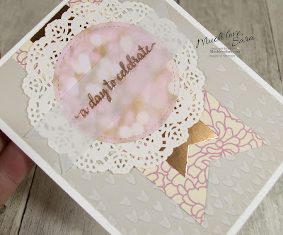 A Day to Celebrate Card | Handmade Card Using Stampin Up Falling in Love Papers and So In Love Stamps