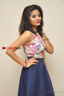 Kannada Actress Mahi Rajput Pos in Floral Printed Blouse at Premam Short Film Preview Press Meet  0012.jpg