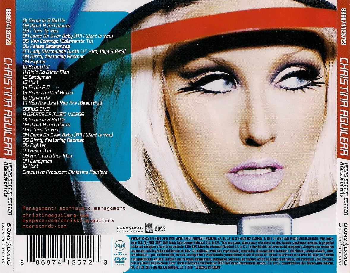Christina Aguilera - Keeps Gettin´Better A Decade Of Hits  Contraportada