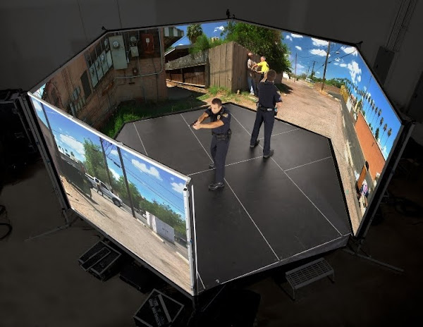 VirTra 300 LE: Police Training Simulator with Real time Panoramic FPS View