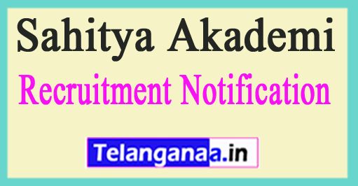 Sahitya Akademi Recruitment Notification 2017