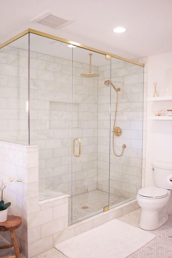 Marble Shower Tiles! Home Decor