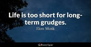 Don't hold grudges