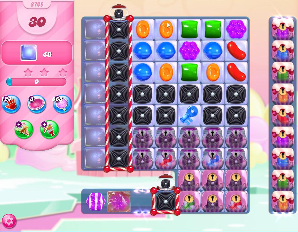 Candy Crush Saga level 3706