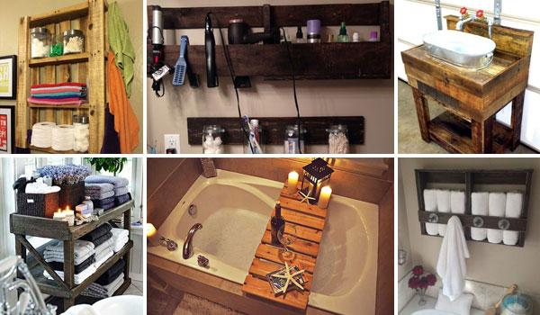 DIY ιδέες από παλέτες για το μπάνιο σας