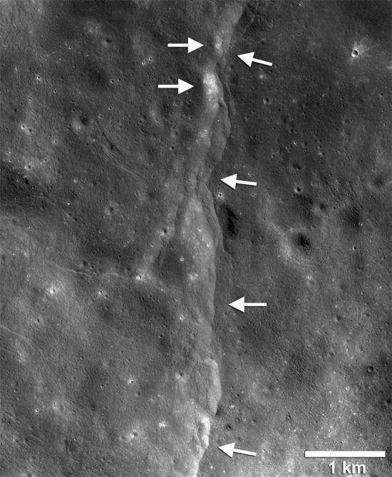 Falha geológica na Lua