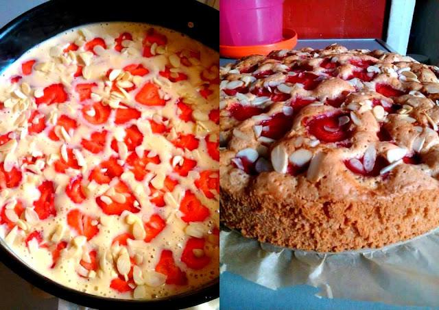 Szybkie ciasto olejowe z owocami
