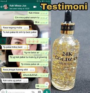 Testimoni 24k Goldzan Serum