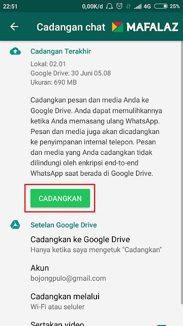 3. Cara Back-Up Data WhatsApp Ke Google Drive