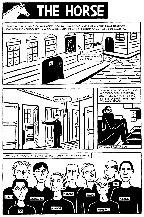 Read Chapter 6 - The Horse, page 44, from Marjane Satrapi's Persepolis 2 - The Story of a Return