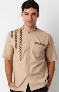 Model Baju Koko Modern Lengan Pendek
